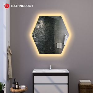 Hot selling hotel led wall mirror frameless anti-fog smart bathroom mirror
