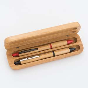 China Groothandel Eco Green Houten Pen Box Set Gift Bamboe Balpen Set