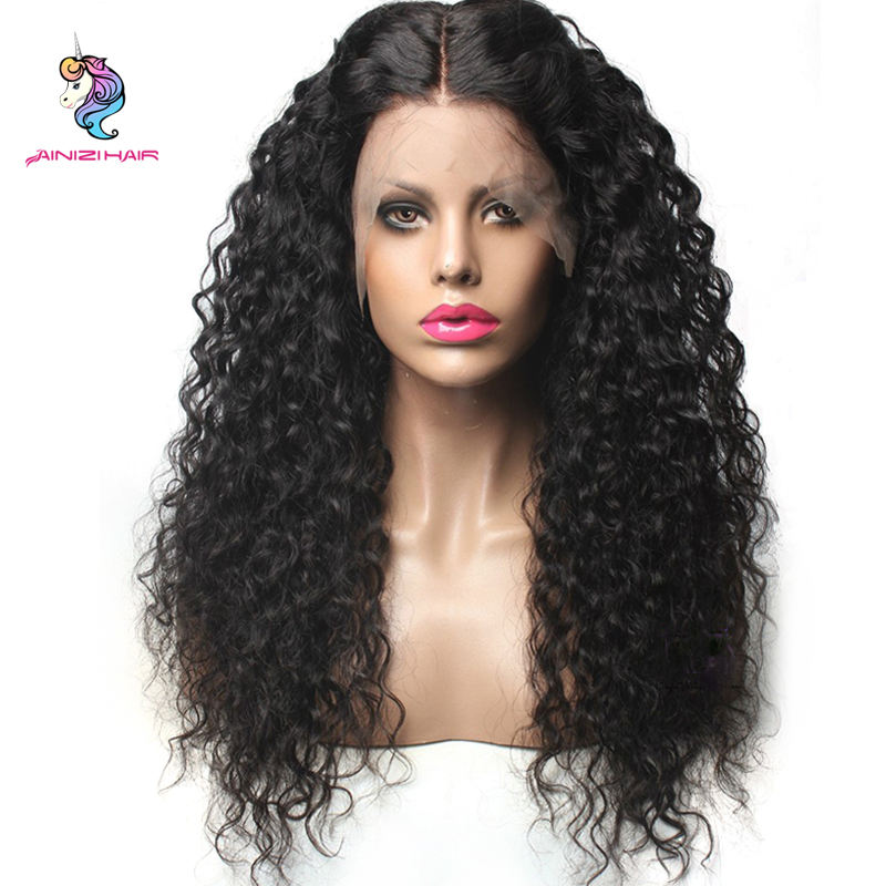 Ainizi Factory wholesale cheap lace wig Lace front synthetic wigs For Black woman Kinky Curly Hair