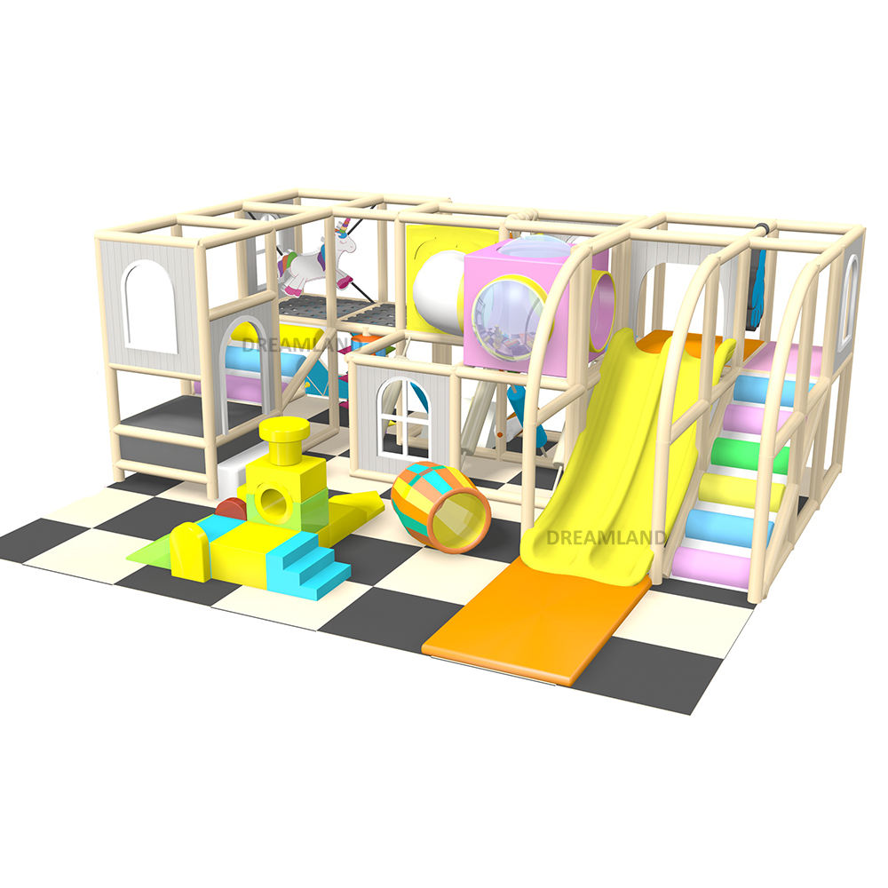 Colorful plastic self match kids indoor games playground soft play equipment