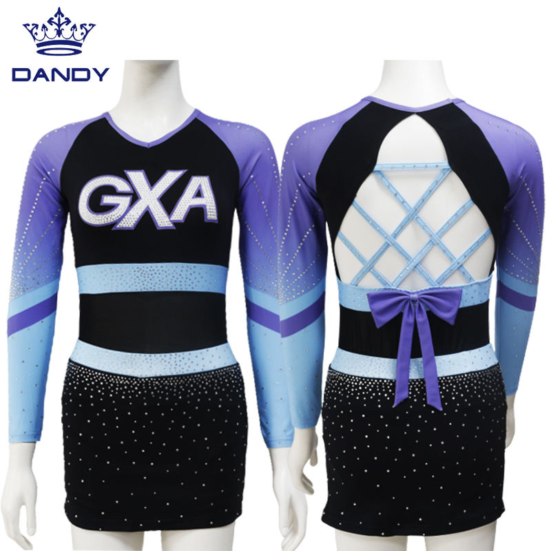 Youth cheerleader uniforms custom lovely sublimation cheer leotards and skirts