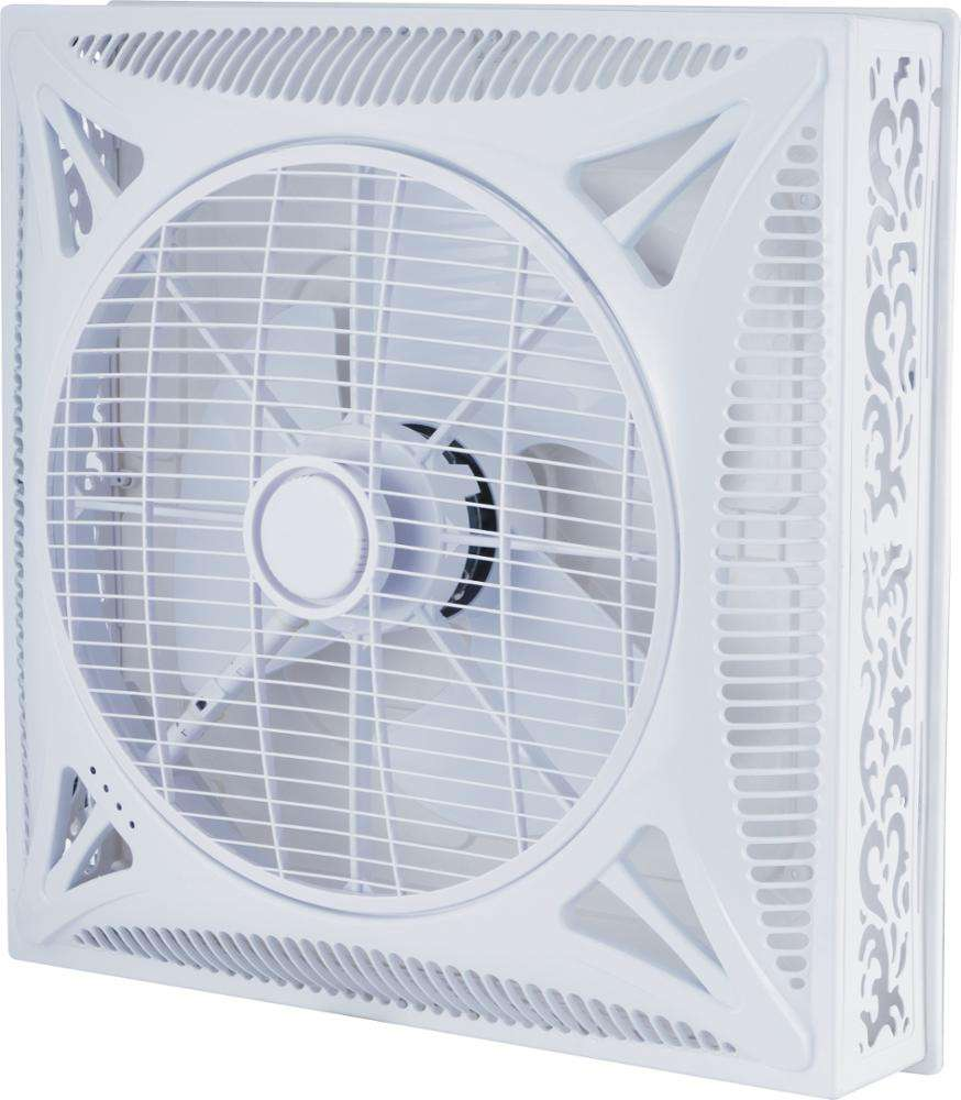 2x2ft 60X60Cm 14 Inch Air Circulatiepomp Shami Valse Plafond Doos Ventilator Met Led Licht Optionele Naar India pakistan Irak Dubai Afrika