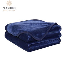 Wholesale Custom Manufacturers Throw Adult Double Bed 100% Polyester Mink Flannel Fabric Super Soft Blanket For Winter With Logo