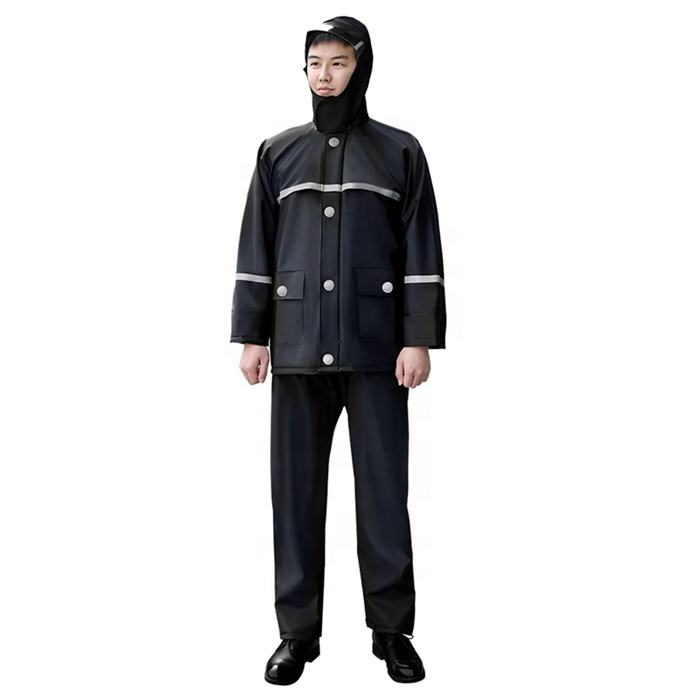 Tianwang High Quality Waterproof Heavy Duty Raincoat for Recycling Fishing Farm Work Industrial Rubber Rain Coat