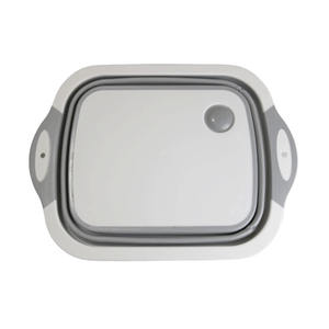 Multifunction Foldable Chopping Board With Storage Basket Cutting Board