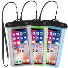 2020 Super Deal IPX8 Inflatable Swimming Accessories Mobile Phone Waterproof Bag Perfect for 4.5-6 inch Smartphone