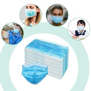 Wholesale foldable 50Pcs disposable non-woven earloops 3ply medical face mask