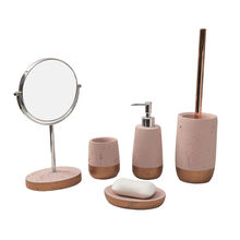Luxury bathroom accessory cement 5 piece bathroom accessories set