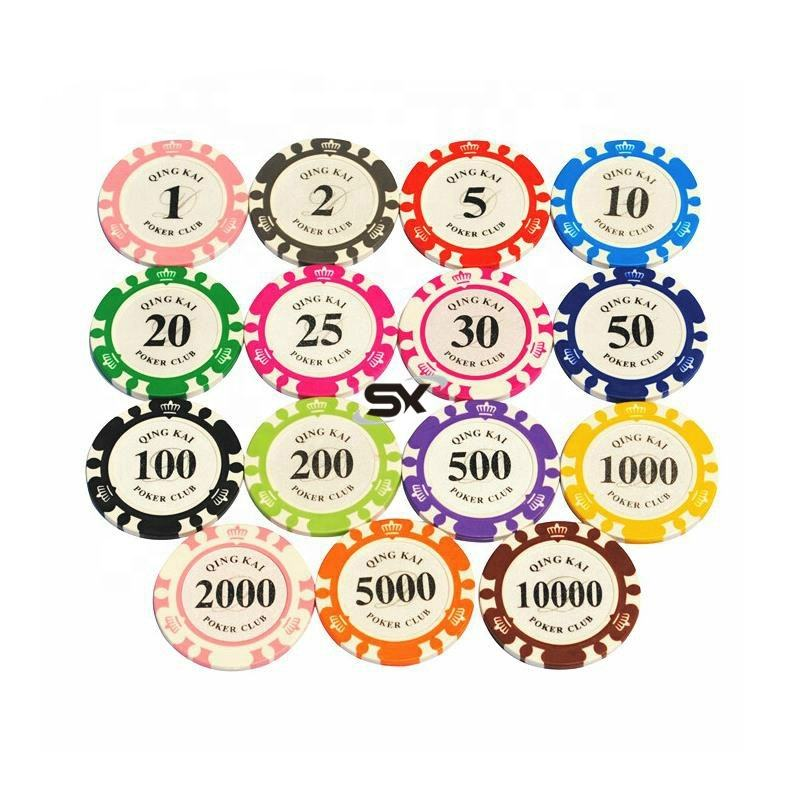 logo printing Multi-colors 14G Casino Metal Clay Poker Chips Custom EPT Poker Chips
