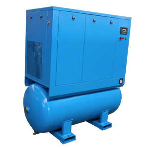 All-in-one 5.5KW 7.5kw 11KW 15KW entegre vidalı hava kompresörü kurutucu ve 500 litre tankı
