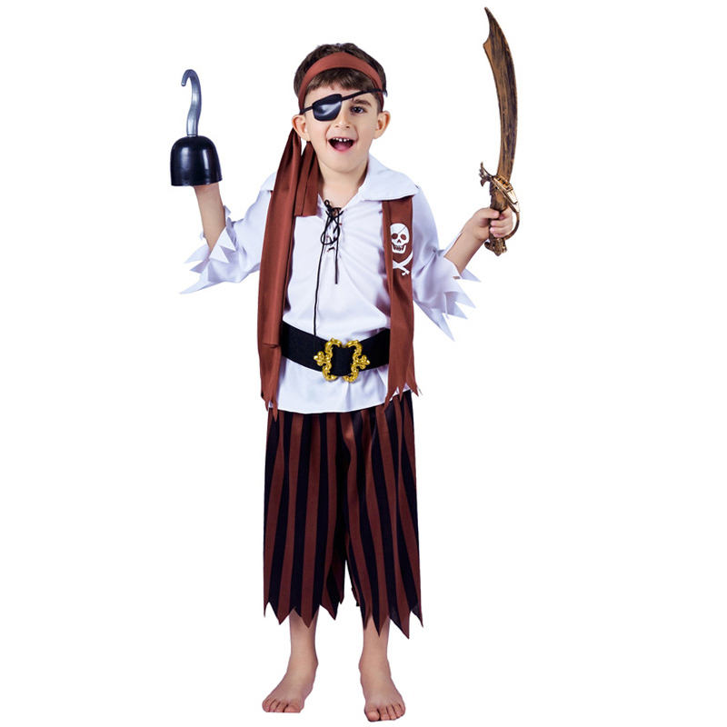 Hot sale Halloween Carnival Party Cosplay Pirate Costume Boys Pirate Costume with Hook