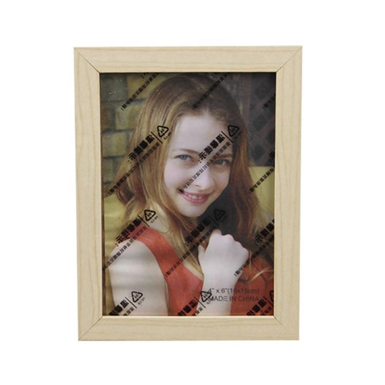 "Cheap wholesale 4x6"" moulded wood picture photo frame"