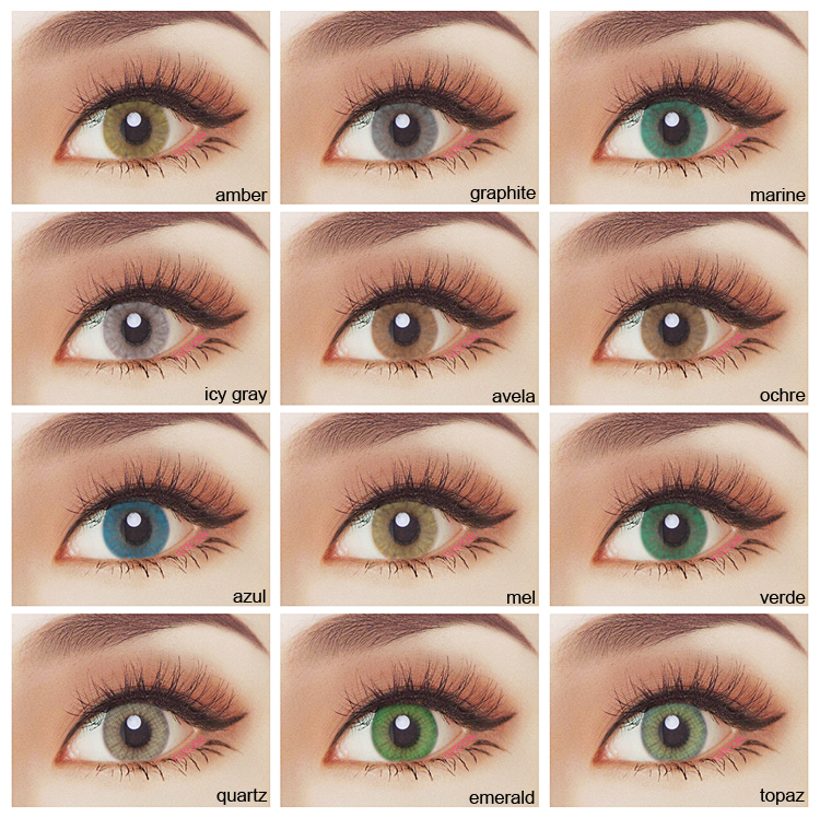 Cosmetic Contact Lens Lenses Year HOT 1 Colored Eye Wholesale Good Quality Cosmetics Super Natural Beautiful Style Color