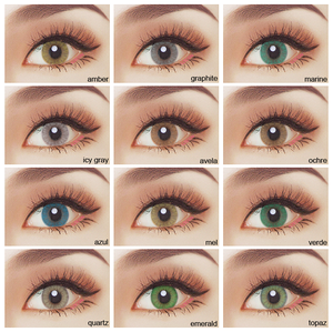 HOT 1 year colored eye contact lenses wholesale good quality cosmetics super natural beautiful style color contact lens