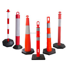 80cm 1100mm PE Bollard with Rubber Base Reflective Delineator Post Warning Post