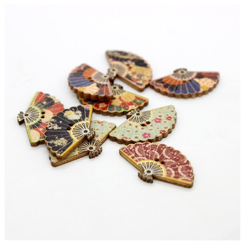 Deepeel BD350 3センチメートル * 2センチメートル2 Holes Painted Wooden Buttons DIY Handmade Clothing Decoration Craft Sewing Scrapbooking Accessories