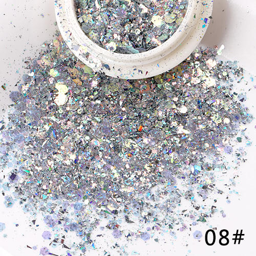 TSZS Multicolor Mix Irregular Nail Art Glitter Powder Sequin Nail AB Color Paillette UV Acrylic Nails Accessoris