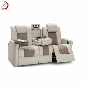 JKY Furniture Lavish Style Luxury Leather RV Recliner Seating Sofa Set