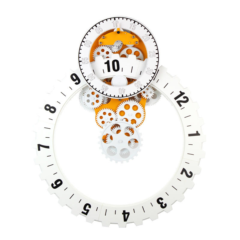 Room Decoration New Design Sawtooth Shape Gear Wall Clock