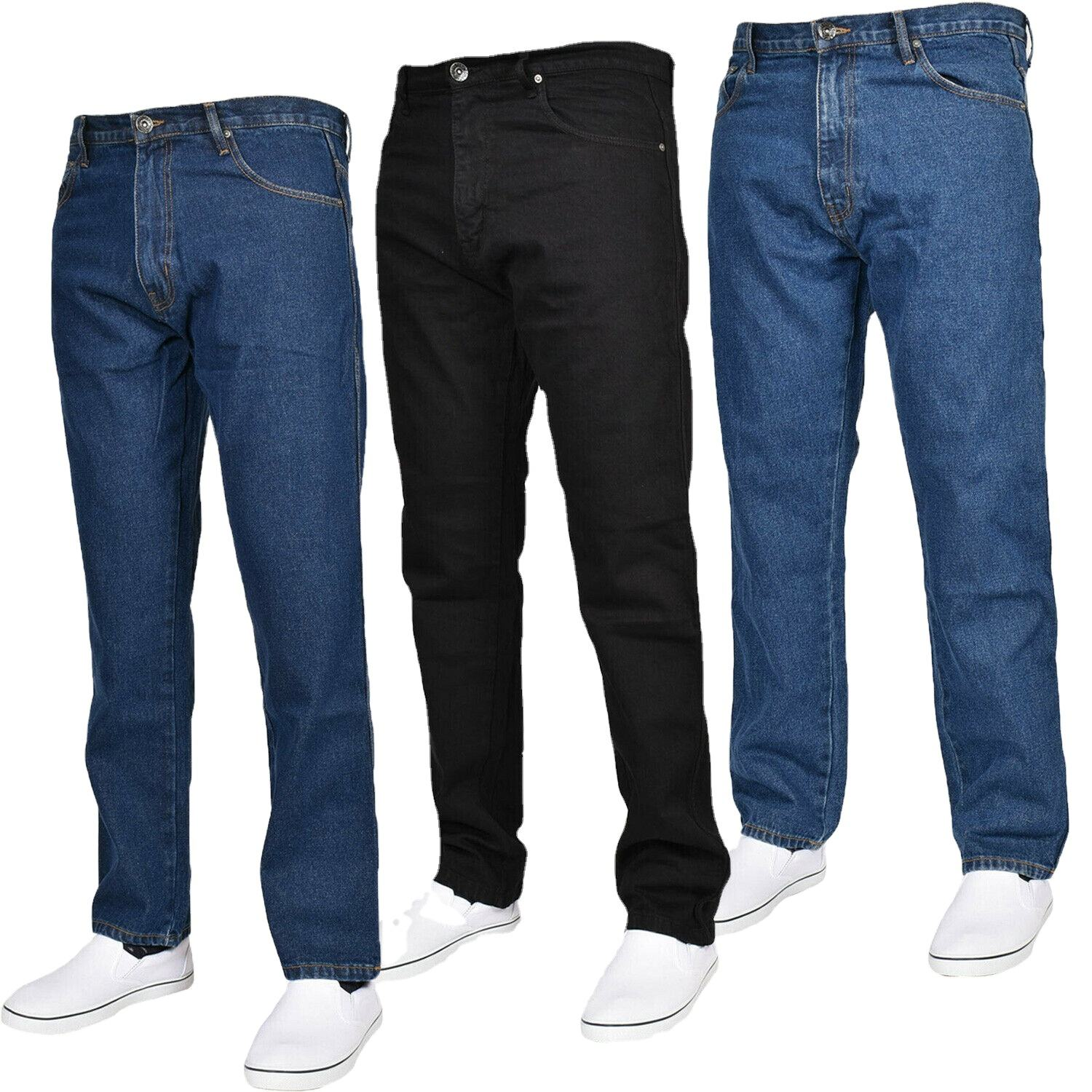 Mens Jeans Heavy Work Cotton Denim Pants Trousers