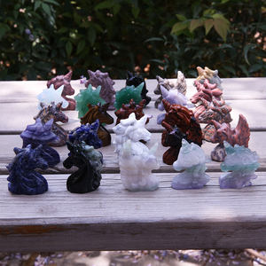Wholesale high quality handmade carving crystals unicorn for home decoration