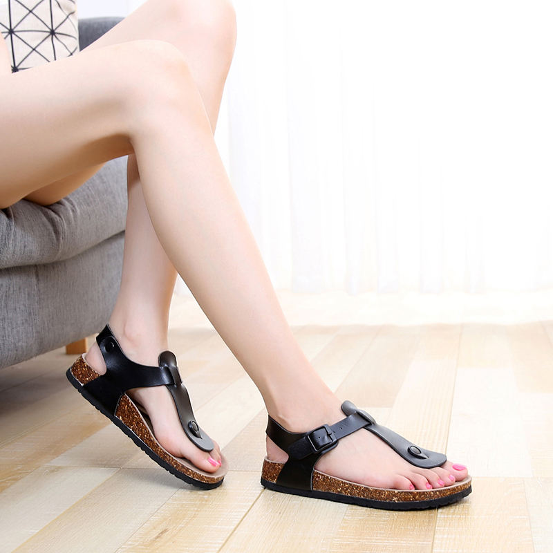 Cheap Ready stock fast shipping Flat Casual Comfy shoes comfort Women's cork sandals Men Sandals great quality unisex T strap