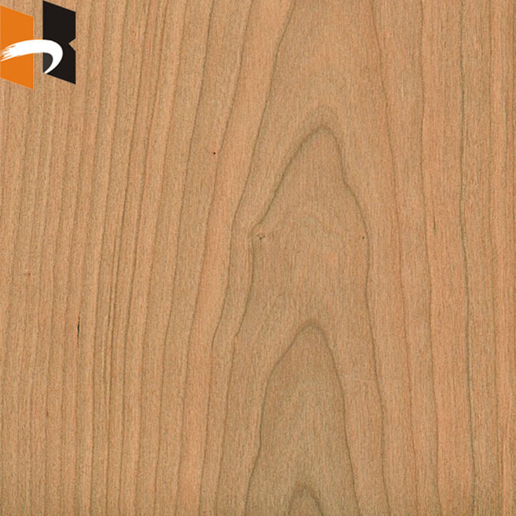 Natural Cherry Wood Veneered Fancy Laminated Plywood For Decoration
