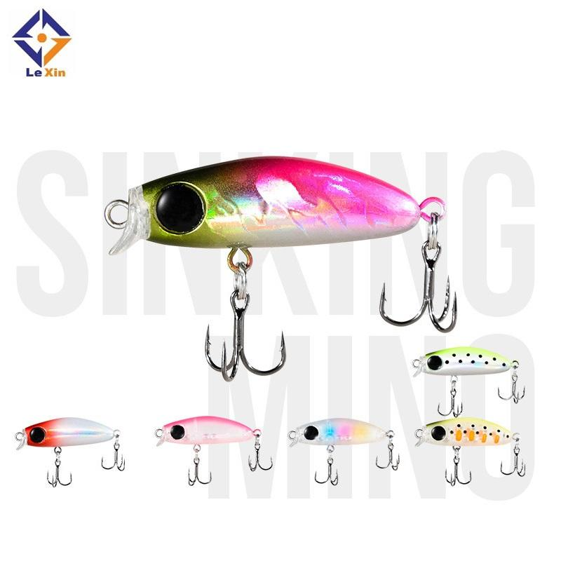Fishing Tackle Hard Bait Lure Sinking Mini Robot Fish Japan 5Cm Leurre Black Minnow