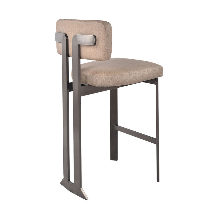 Hot Sale Industrial Gold Metal Bar Stool Counter Stool High Stools Leather Leisure Lounge Chair For Home