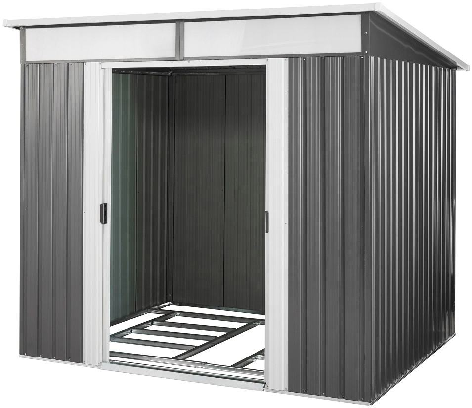 High quality Garden Shed Metal Shed with Skylight for storage in flat roof