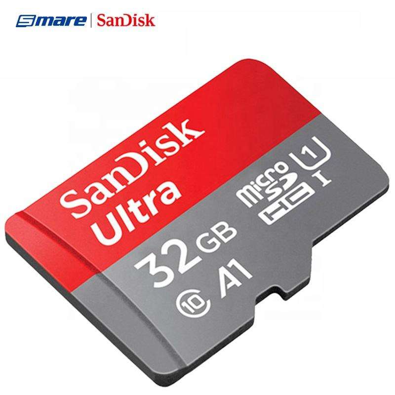 100% Authentic SanDisk Ultra A1 Micro Memory SD Cards Cartao De Memoria 32GB 64GB 128GB 256GB Flash Memory Micro TF SD Card