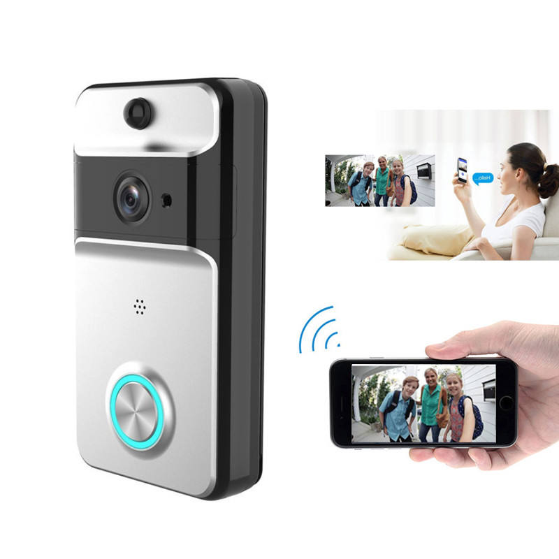 720P Wireless Wifi Smart Video Ring Doorbell Camera Intercom 2 Way Audio Waterproof Wireless Door Bell Camera with Chime