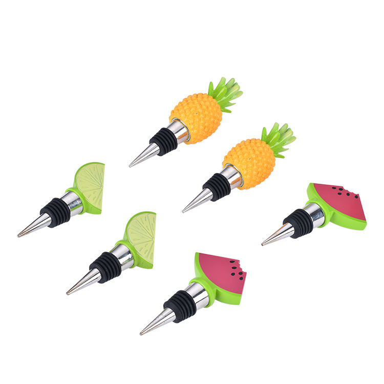 High Quality food grade material fruit Wine Bottle Stopper for kitchen and bar