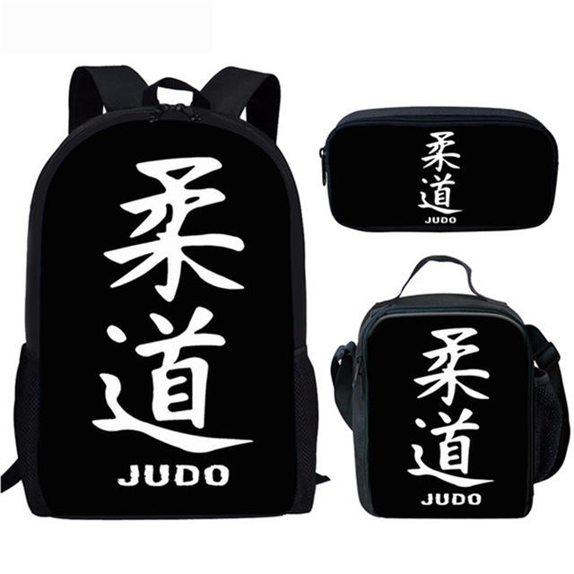 Cool Arts JUDO High Quality Black School Bag Online Shopping Alibaba Wholesale Custom Logo School Bags For College Students
