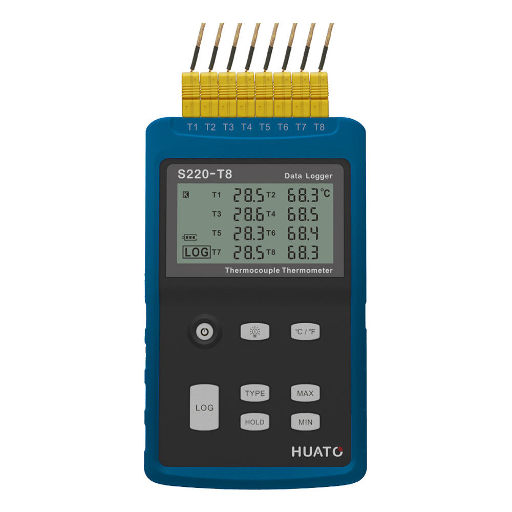 Huato S220-T8 Multi 8 Channels thermocouple Temperature Data Logger