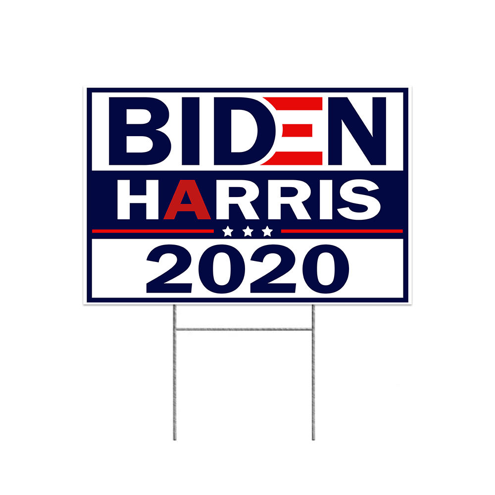 2020 Joe Biden Presidential Election Yard Sign With H Stake