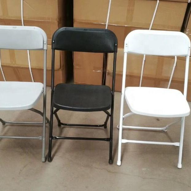 low price used poly folding chair for wedding banquet party