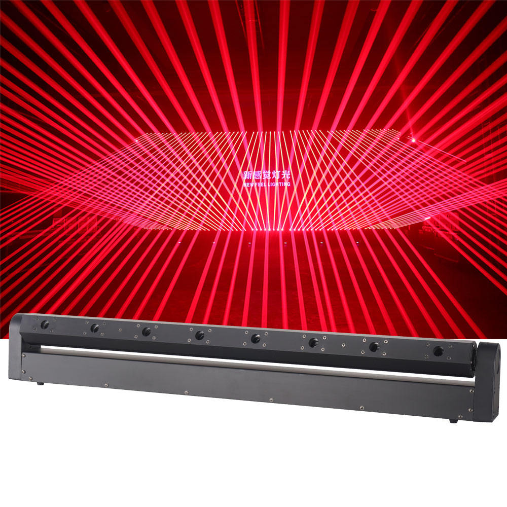 8 eyes beam light 500mw red moving head laser lights bar for club/dj/disco/pub