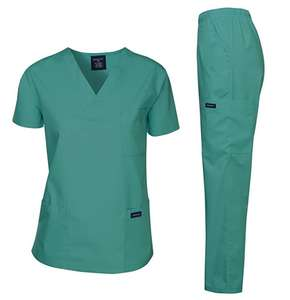 Two Pieces Sets Uniform Women and Man Suit Beauty Salon Work Cloth Scrubs Set