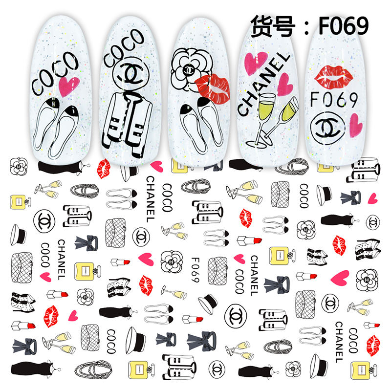 2020 Newest women Loved Fashion beauty 3d Nail Art stickers