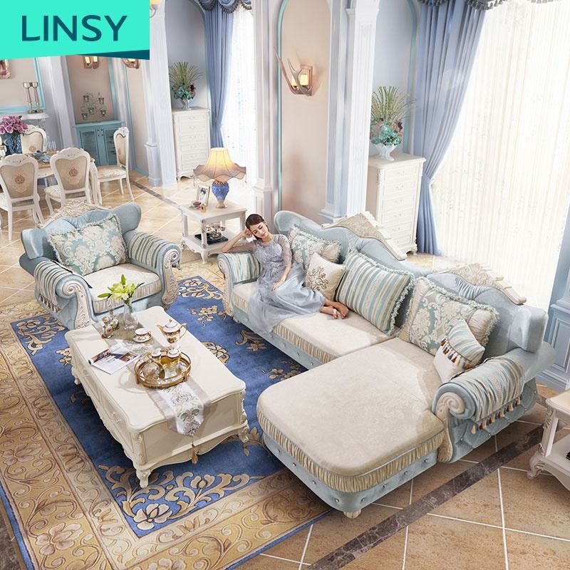Modern Luxury Couches Hotel Suite Long Lounge Living Room Furniture Sofa Set