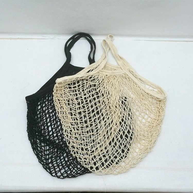 Produce Net Shopping Reusable Grocery Tote Organic Cotton Mesh Bag