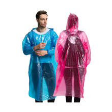 Custom Logo print PE Disposable Fishing Rain Gear for men and women Rain Ponchos Rain coat