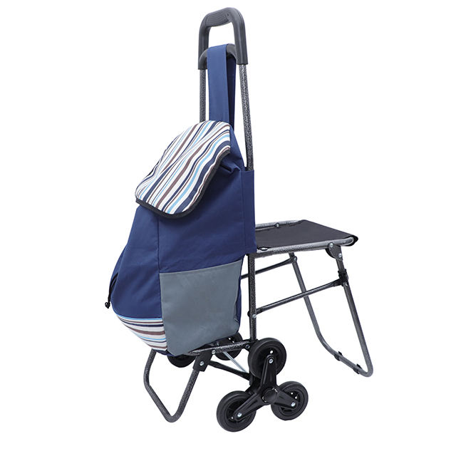 2019 Hot sell folding shopping cart shopping bag trolley with chair