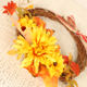 Simulation Flowers Sunflower Rattan Wreath Ribbon Bow Decorative Door Hanging Decorative Thanksgiving Simulation Flowers