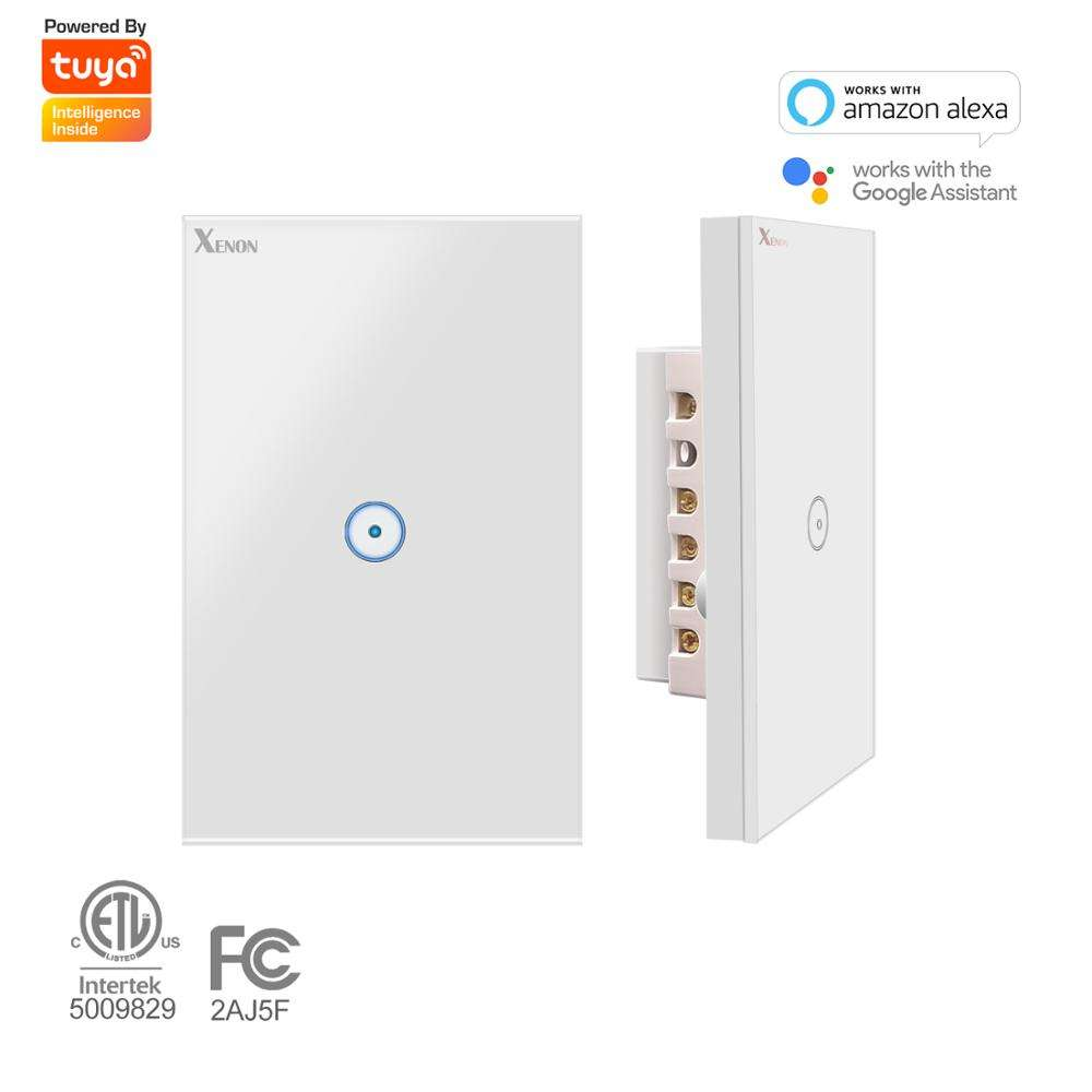 Wifi pared Touch Smart Switch 1/2/3/banda de Panel de vidrio de luz interruptor negro/blanco casa inteligente trabajar con Amazon a través de vida inteligente de control