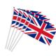 RUIYUAN 68D 100% Polyester Custom Size Small UK Flags Waving Hand Flags With Plastic Flagpoles Activity Parade Sports Flags