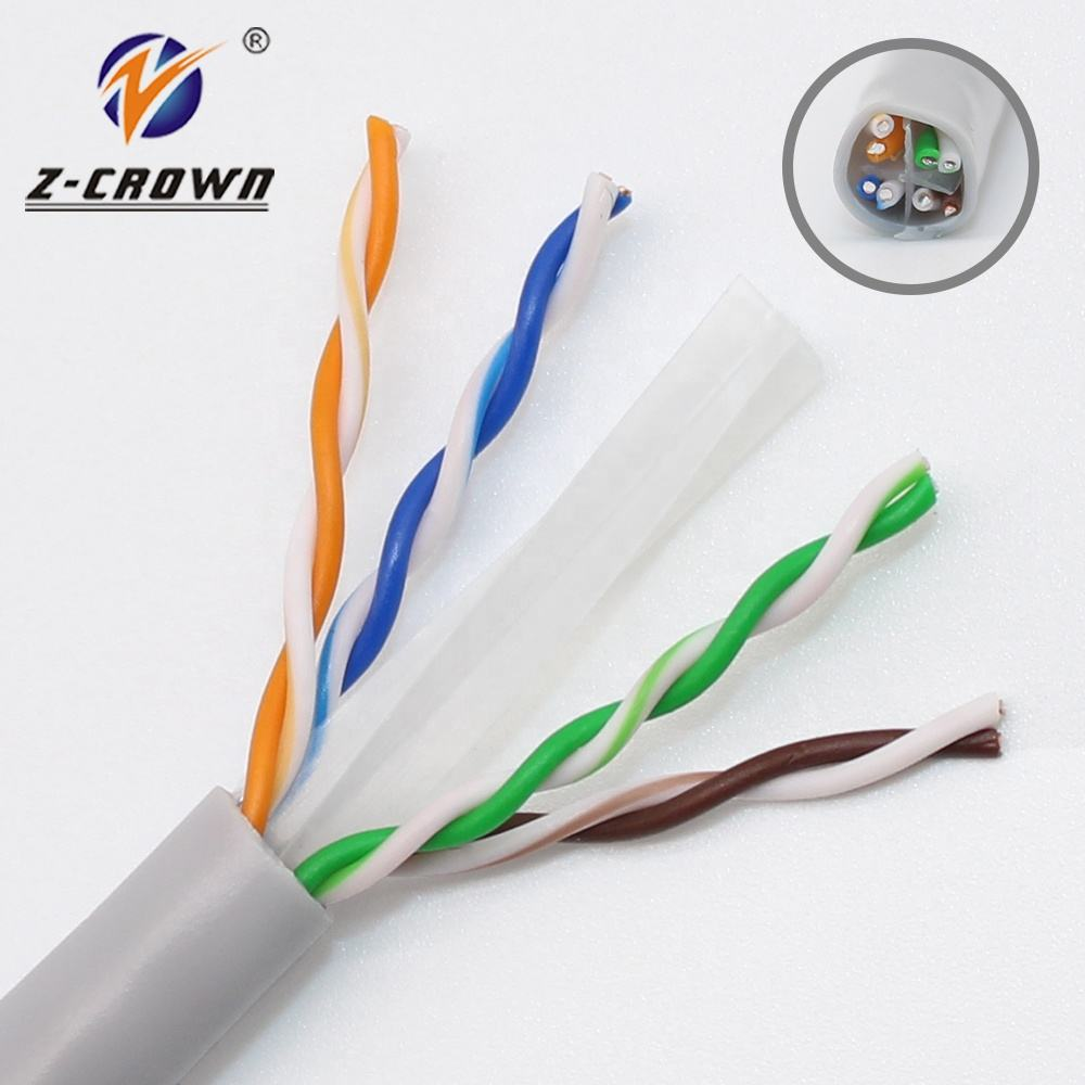 Z-Crown Factory Price Cat 6 UTP / STP / SFTP Cable indoor and Outdoor Pass Fluke Test OEM Support (BC and CCA)