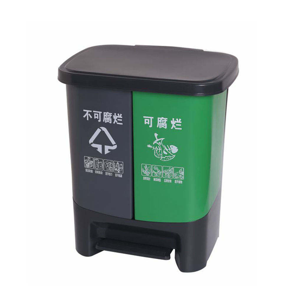Open top trashbin waste seperated recyling gabage bin with pedal
