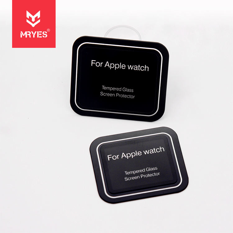 Edge Printing Glass HD Watch Screen Anti-fingerprint Glass Protector for Apple Watch